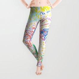 Australian Firewheel Flowers in Mod Rainbow + White Leggings