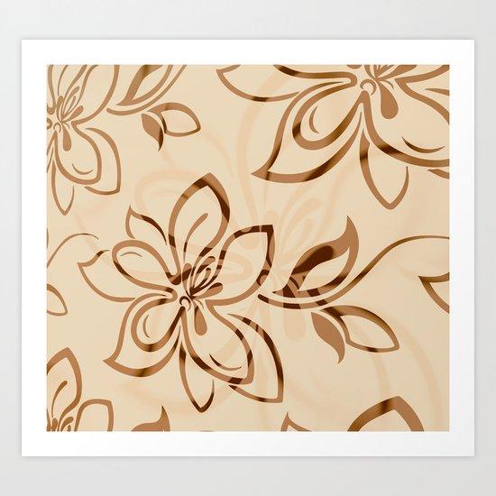Brown Garden Art Print