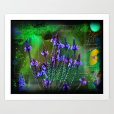 Flowers In A World Of Colors  Art Print