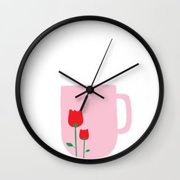 A cup of Happiness Wall Clock