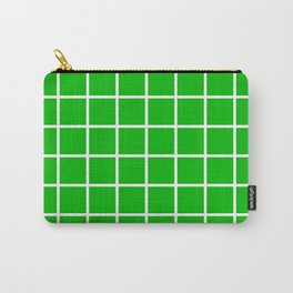 GRID DESIGN (WHITE-GREEN) Carry-All Pouch