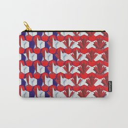 Awesome American to Canadian Flag Pattern! USA vs Canada. Carry-All Pouch