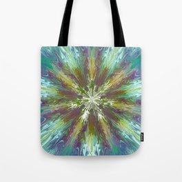Abstract tie dye flower Tote Bag