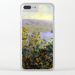Monet: Flower Beds At Vetheuil Clear iPhone Case