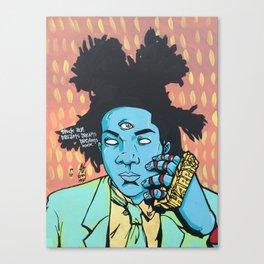 STUCK ON DREAMS (Basquiat) Canvas Print