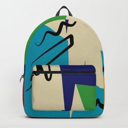 Geometric organic shapes abstract Backpack