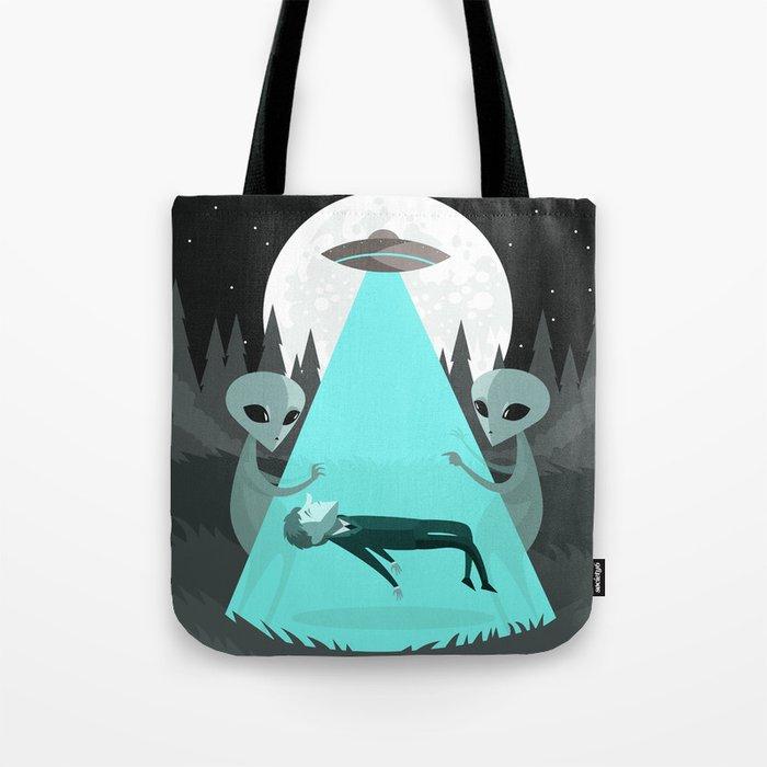 Ufo Alien Abduction Tote Bag