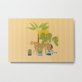My Urban Jungle Cat Metal Print