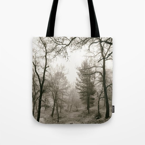 """""""Into the woods IV"""". Foggy forest Tote Bag"""