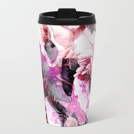 Roses in abstraction Travel Mug
