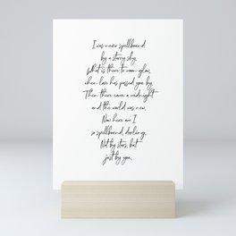 At Last, Etta James song lyrics Mini Art Print