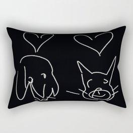 pet luv Rectangular Pillow