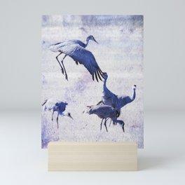 Hopping Crane Mini Art Print