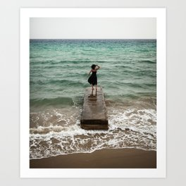 The Woman And The Sea Art Print