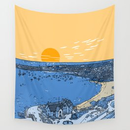 Cascais Bay-Portugal-Beach-Sunset-Landscape Wall Tapestry