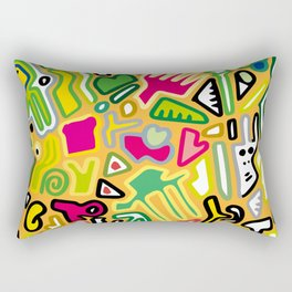 color doodle Rectangular Pillow