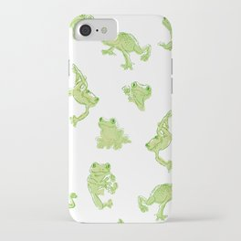 Froggy Frog large green iPhone Case