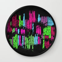 wasted rita Wall Clocks featuring Wasted by Last Call