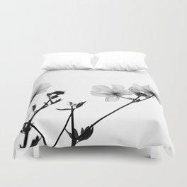 Flowers in Black and White Duvet Cover