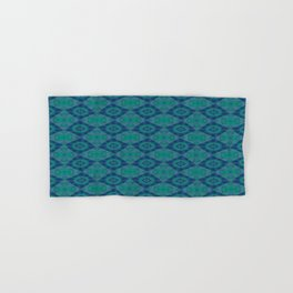 Jade and Blue Repeating Aurora Pattern Hand & Bath Towel