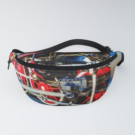 Power Of A Vintage Steam Engine Locomotive Fanny Pack