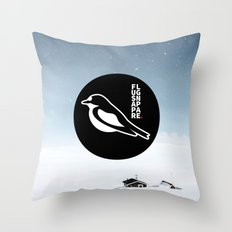Flugsnappare Throw Pillow