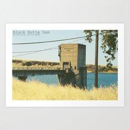 Black Butte Dam Art Print