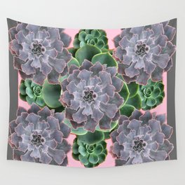 ORNATE JADE & GREEN SUCCULENT PINK   GARDEN Wall Tapestry