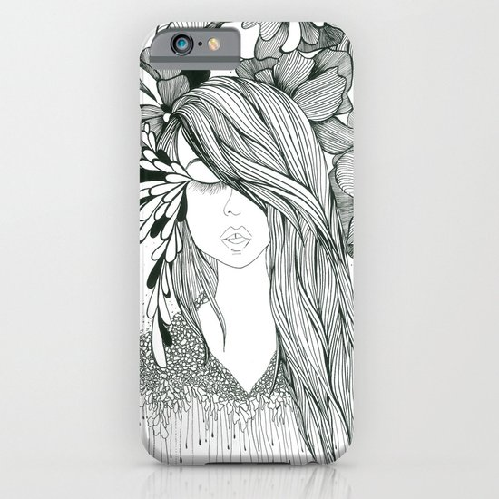 Girl with Flowers iPhone & iPod Case