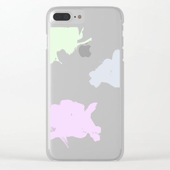 Pastel Palette Clear iPhone Case