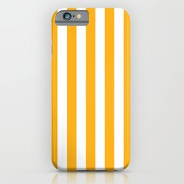 Beer Yellow and White Vertical Beach Hut Stripes iPhone Case