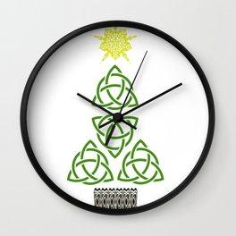 Nollaig Shona Gaelic Christmas Celtic Knot Irish Christmas Wall Clock