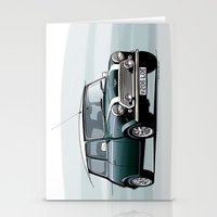 mini cooper Stationery Cards featuring Classic Mini Cooper by TCORNELIUS