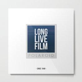 Long Live Film  Metal Print