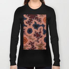 Aboriginal Art Authentic - Pathways Long Sleeve T-shirt