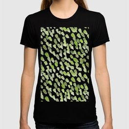 Imperfect brush strokes - olive green T-shirt