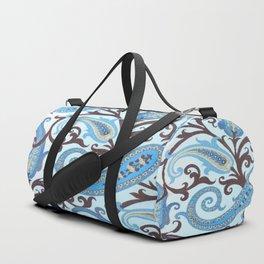 Classic Paisley in Blue Duffle Bag