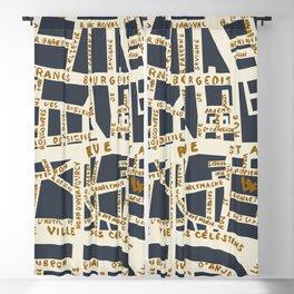 PARIS MAP GREY GOLD Blackout Curtain