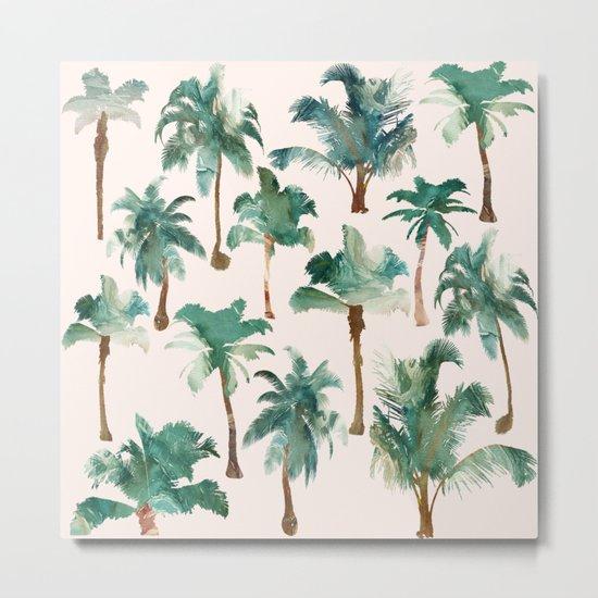 Palm Trees Pattern Metal Print