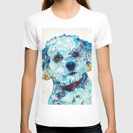 Small Dog Art - Who Me - Sharon Cummings T-shirt