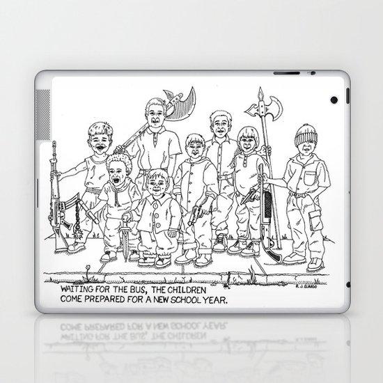 Bus School Year Satire Drawing Laptop Ipad Skin By