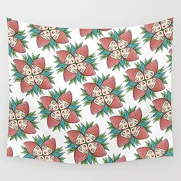 strawberry flower Wall Tapestry