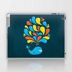 Dark Colorful Happy Cartoon Whale Laptop & iPad Skin