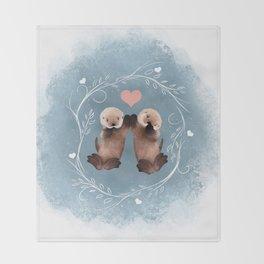 Otter Love Throw Blanket