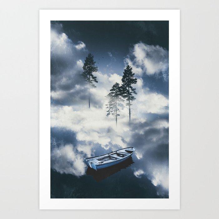 Forest sailing Art Print