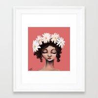 daisies Framed Art Prints featuring Daisies by Jaleesa McLean