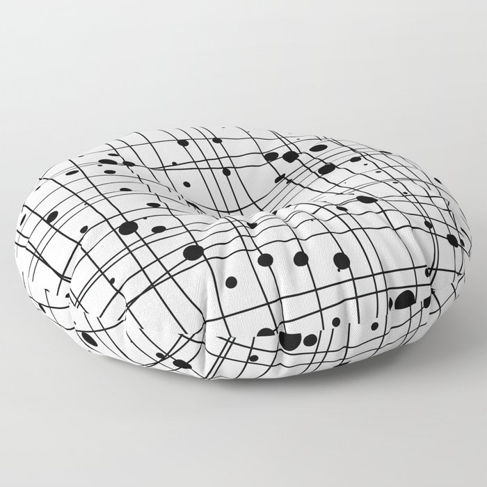 Woven Web black and white Floor Pillow