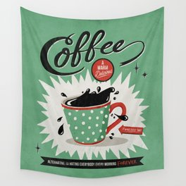 Saved By Coffee Wall Tapestry