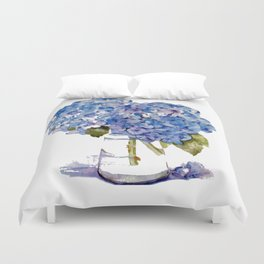 Cape Cod Hydrangea Large Canvas Duvet Cover