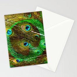 The Peacock Dream In Gold Stationery Cards